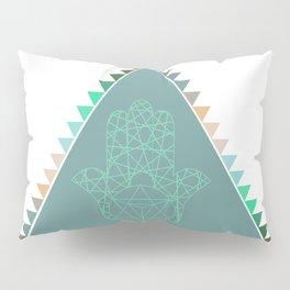 Merkaba Triangle Green Pillow Sham