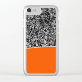 City Sunset Abstract Clear iPhone Case
