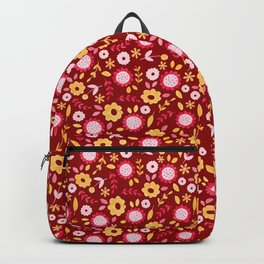Autumn floral - red Backpack