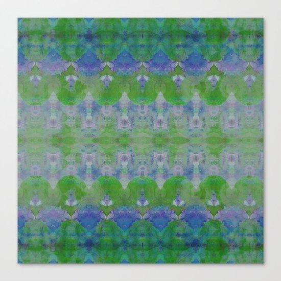 Watercolour Tribal Green Canvas Print