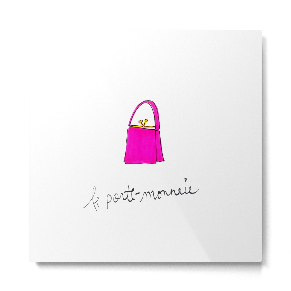 Pink Purse Metal Print by rhiannaclaire (MTP8511390) photo