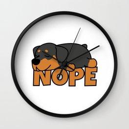 Nope Rottweiler Wall Clock