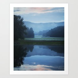 Sunset in the Great Smoky Mountains Art Print