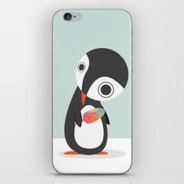 Pingu Loves Icecream iPhone Skin