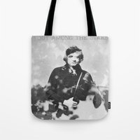 johnny cash Tote Bags featuring johnny cash by monicamarcov