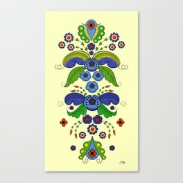 Folklore Flower tapestry Canvas Print