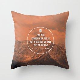 1 Corinthians 4:20 Throw Pillow