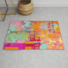 another day another party - abstract painting Rug