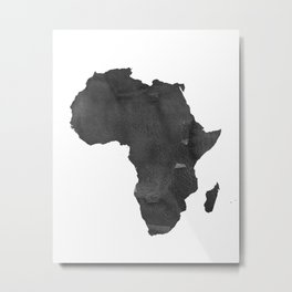 WATERCOLOR AFRICA MAP Africa Map Watercolor Painting Watercolor poster Handmade poster Continent Metal Print
