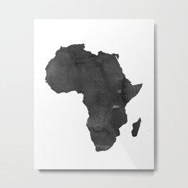 WATERCOLOR AFRICA MAP Africa Map Watercolor Painting Watercolor poster Handmade poster Continent Metal Print