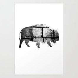 Buffalo (The Living Things Series)  Art Print