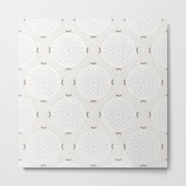 Snow Rosette Lace Metal Print