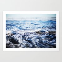 surf Art Prints featuring Surf by Leah Flores