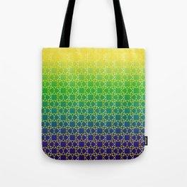 Geometry Star Pattern Yellow Green Blue Tote Bag