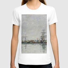 Eugène Boudin - The dock at Le Havre T-shirt