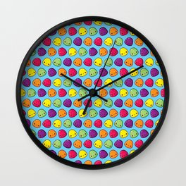 Gumdrops Pattern Wall Clock