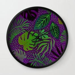 Purple Delight Wall Clock