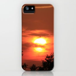 Kansas Country Sunset with Orange iPhone Case