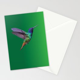 Hummingbird Low Poly Vector Illustration Stationery Cards