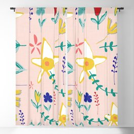 Floral The Tortoise and the Hare is one of Aesop Fables pink Blackout Curtain
