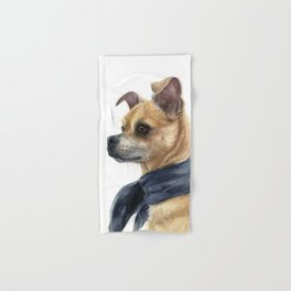 Chug Chihuahua Pug Mix Portrait Hand & Bath Towel