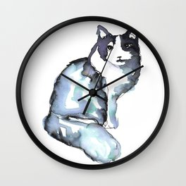 Beautiful Cat, Posing Wall Clock