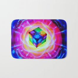 Abstract perfection - Cube Bath Mat