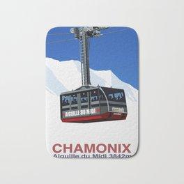 Chamonix Ski Resort , Aiguile du Midi Cable Car Bath Mat