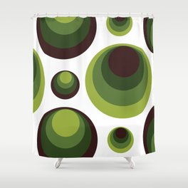 Back To The 70's In Green Shower Curtain