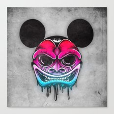Evil Mickey Canvas Print