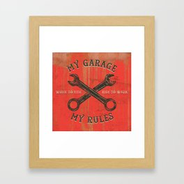 My garage Framed Art Print