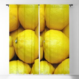 Yellow lemons Blackout Curtain