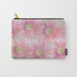 Pink daisies on a pastel background. Carry-All Pouch