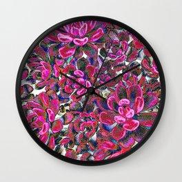 Floral tribute [red velvet] Wall Clock