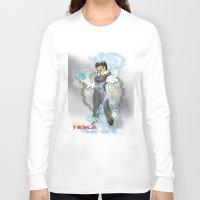 dbz Long Sleeve T-shirts featuring DBZ Tesla Milky Way by Hushy