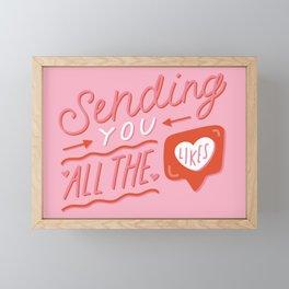 Sending You All the Likes Framed Mini Art Print