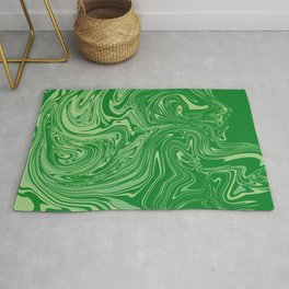 Green pastel abstract marble Rug