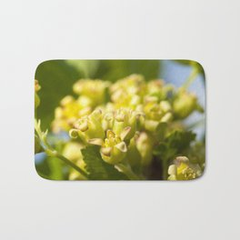 green blackcurrant flowers Bath Mat