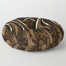 Vintage Samoan Tribal Tapa Art Board Floor Pillow