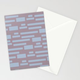 Sugar Cane - Scandinavian Mid-Century Stripes Stationery Cards