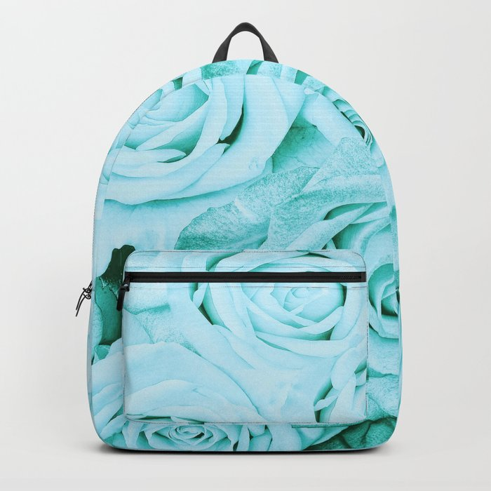 Turquoise roses - flower pattern - Vintage rose on #Society6 Backpack