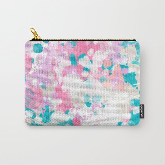 Shaz - abstract painting minimal modern color palette boho nursery home decor Carry-All Pouch