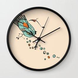 Clam Orange Wall Clock