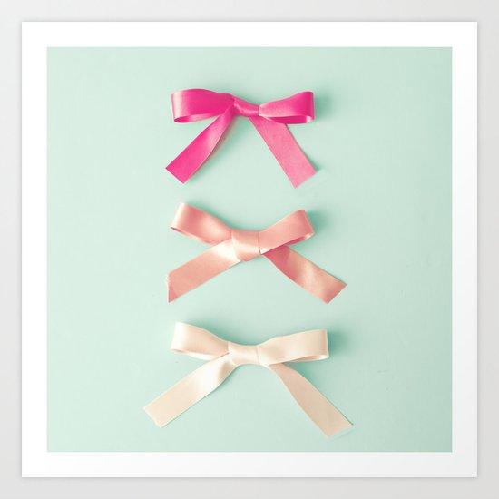 Three silky ribbons Art Print