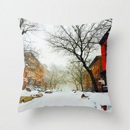 NYC @ Snow Time Throw Pillow