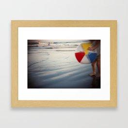 Beach Ball Framed Art Print