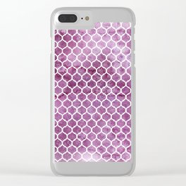 Rose Trellis Pattern Clear iPhone Case