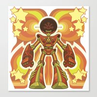 70s Canvas Prints featuring '70s Robot by Jim Nelson