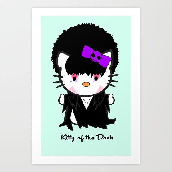 Kitty of the Dark Art Print