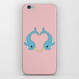 Narwhal heart iPhone Skin